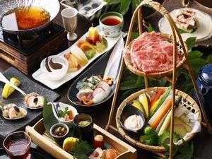 ふもと旅館別邸 こうの湯:夕食一例