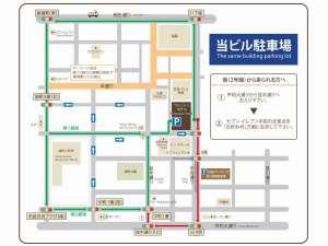 広島ワシントンホテル:提携駐車場案内地図