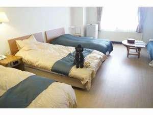 ペット&スパホテル那須ワン:洋室はクッションフローリングで愛犬の足にも優しいですよ☆