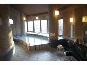 ペット&スパホテル那須ワン:大浴場白濁の湯でごゆっくりと♪