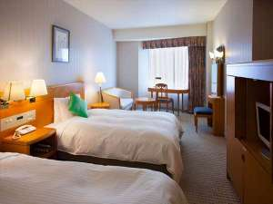金沢ニューグランドホテルアネックス:ツイン(27㎡)2~3名添い寝も可能なユッタリサイズベットのお部屋・禁煙喫煙有