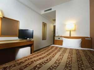 ベルズイン前橋(旧カントリーホテル前橋):【シングル一例】ベッドはゆったりセミダブルベッドで快適なシングルルーム!
