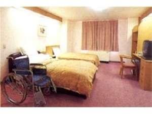 ホテル 久喜:お年寄りや障害をお持ちの方も快適♪多機能ツインルーム