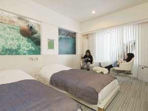 旭川パークホテル:旭山動物園ルームです♪「白クマのお部屋」♪