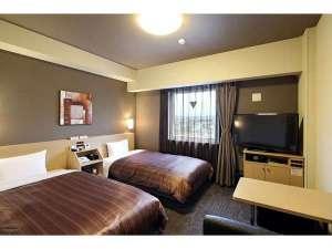 ホテルルートイン宇部:スタンダードツインルーム<ベッドサイズ110×200(cm) >