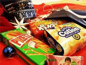 ラッピングされたお菓子で、クリスマス気分を盛り上げます☆
