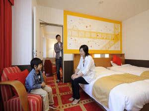 コネクティングルーム(54㎡/4~6名1室) 中が繋がったお部屋。