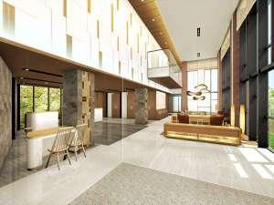 西鉄ホテル クルーム名古屋(2019年1月30日オープン):【ロビー】開放的で明るいエントランス