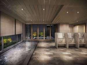 西鉄ホテル クルーム名古屋(2019年1月30日オープン):【大浴場】最上階に露天風呂・寝湯付の大浴場完備