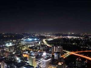 新横浜プリンスホテル:日産スタジアム方面を望む。高層階のお部屋からはさまざまな景色をお楽しみいただけます。