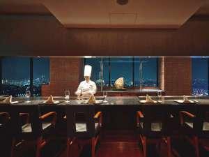 新横浜プリンスホテル:人気の鉄板焼きカウンター