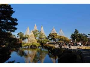 【周辺観光】「兼六園」岡山市の後楽園と水戸市の偕楽園と並んで日本三名園の一つに数えられている
