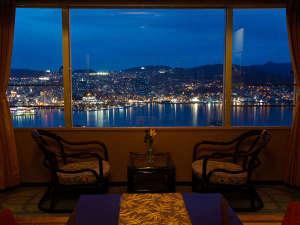 大江戸温泉物語 長崎ホテル清風:和室12畳 - お部屋からの夜景