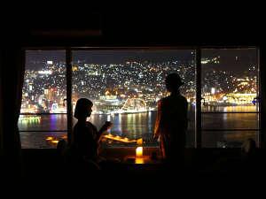 大江戸温泉物語 長崎ホテル清風:真っ暗にして客室から夜景をお楽しみくださいね。