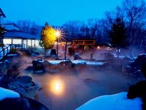 旬の宿 ニセコグランドホテル:冬の露天風呂