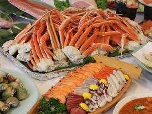 旬の宿 ニセコグランドホテル:バイキング(ズワイ蟹食べ放題)料理一例①