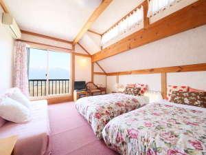 オーベルジュメイヤの樹:2階 ピンクを基調とした部屋