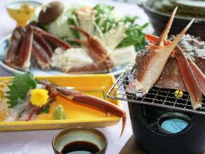 東山温泉メイプルプラザ:【グレードアップかに鍋プラン】焼き蟹&蟹刺し付き!蟹の美味しさを満喫したいならコレ★