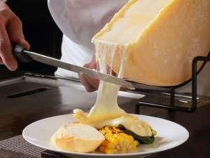 ラクレットチーズをたっぷりかけてお召し上がりください♪
