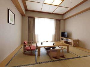 国際障害者交流センター(ビッグ・アイ):8畳の和室は畳のにおいが薫る落ち着いた雰囲気で、リピーターの方が多くいらっしゃいます。
