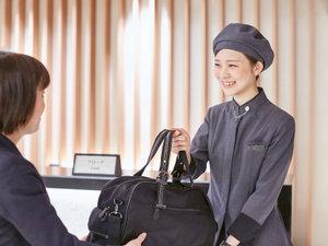 新・都ホテル:チェックイン前、アウト後のお荷物無料預りサービスあります♪