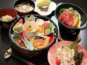 朝夕個室食と貸切風呂の宿 花巻台温泉 松田屋旅館:創作和食コースは夕食評価4.0以上と高評価。