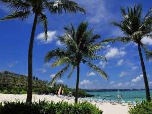 かねひで恩納マリンビューパレス:ホテルから徒歩5分♪白い砂浜が広がるムーンビーチ♪