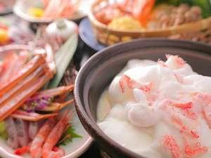 ひだまりオリジナル蟹淡雪蟹味噌鍋。新食感鍋です![一例]