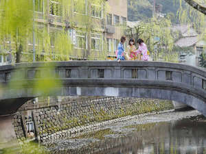 城崎温泉街 柳の美しい街並みをゆったりお散歩