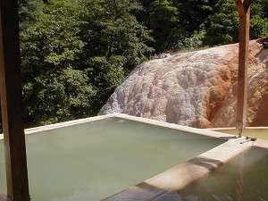 二股らぢうむ温泉旅館:自慢の露天風呂