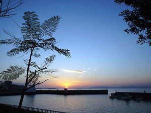 浜観ホテル:当館から眺める夕日です