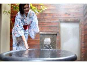 かくれの里 ゆかり:美肌の湯 客室露天風呂