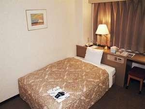プラザホテルアベニュー:シングルルーム。140㎝のダブルベッド使用