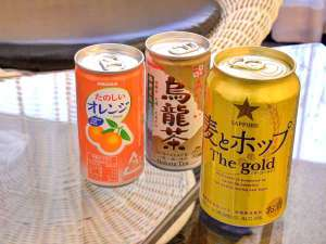 ホテル網元:*冷蔵庫の中にある飲み物は無料です。湯上りなどのひと息に。ご自由にどうぞ。