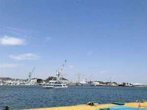 ホテルグランドパレス塩釜:水産業が盛んな港町塩釜。この海のおかげですね♪観光遊覧船で日本三景松島へ♪