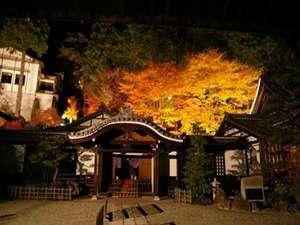 下呂温泉 望川館(ぼうせんかん):望川館から歩いて10分のところにある【温泉寺】期間限定で紅葉のライトアップがある