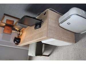ツインルームデスク全室完備空気清浄機・加湿器BS対応TV