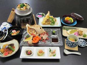 うらかわ優駿ビレッジAERU(アエル):夕食の和食セットメニュー(イメージ)