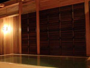 夜空を仰ぎながらの露天風呂…☆