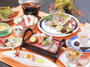 月ヶ谷温泉 月の宿:季節替わりグレードアッププランのお料理例です。