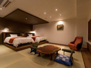 湖上に浮かぶ絶景の宿 はわい温泉 千年亭:5F「花梨」客室