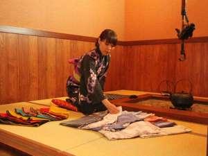 湯う香 三蔵庵(さんぞうあん):お好きな色浴衣をお選び頂けます。