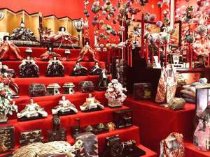 ホテル輝泉荘:雛飾り