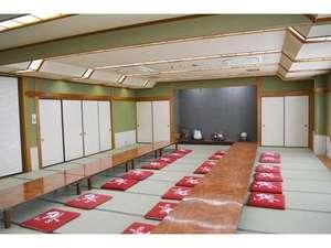 ビジネスホテル山水:大宴会場です。大小宴会や、団体の方の宿泊にもご利用いただけます。