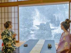 ☆宇奈月の雪景色を見ながらのほほんと☆