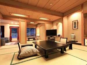 塩原温泉 渓流野天風呂と炉端料理の宿 湯守田中屋:最上階露天風呂特別室〈蒼景〉一番人気のお部屋タイプです。