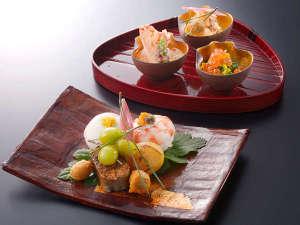 下呂温泉 水明館:【お部屋食】旬の食材を使った料理長こだわりのお料理(一例)