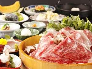 川涌の湯 マウントビュー箱根:【料理】みんな大好き~♪すきやき鍋プラン(一例)