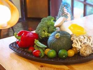 酒仙の宿 晩:厳選された近隣野菜