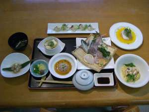 SeaSideうわかい:夕食一例